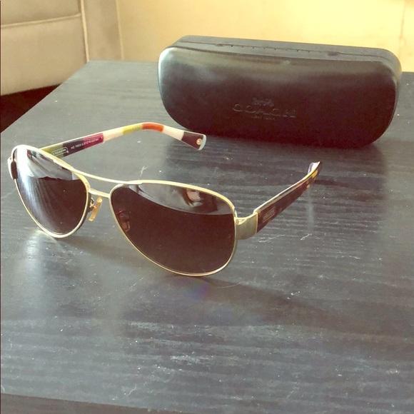 9c5a468529 ... switzerland coach hc 7003 l012 kristina gold brown sunglasses ef9e7  a83ad